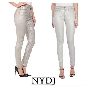 NYDJ Ami Skinny Jeans Silverpeak Foil NWT